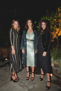 Camille Rowe, Alma Jodorowsky and Julia Restoin Roitfeld at a dinner to celebrate Mango Journeys in Milan - September 2016