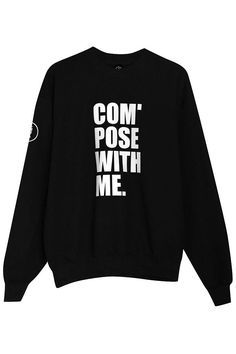 SWEATER BLACK/WHITE COMPOSE WIITH ME