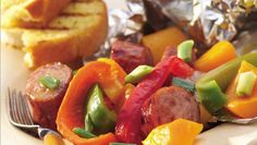 Looking for a hearty meal? Then check out these grilled sausage and veggie packets - perfect for a dinner.