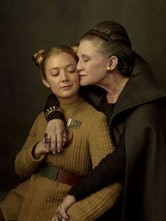 Carrie Fisher and her daughter Billie Lourd by Annie Leibovitz.