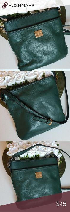57f082e66bbf Ralp Lauren Crossbody Bag GUC Lauren Ralph Lauren leather crossbody.  Beautiful dark green teal