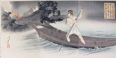 Toshikata, Escape on a Boat