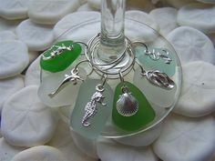 Sea Glass Wine Charms                                                                                                                                                                                 More
