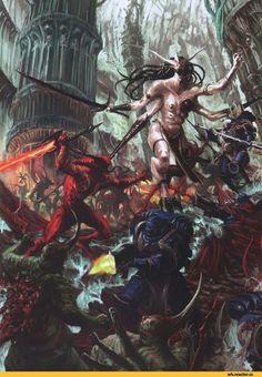 warhammer 40000,warhammer40000, warhammer40k, warhammer 40k, ваха, сорокотысячник,фэндомы,Slaanesh,Chaos (wh 40000),keeper of secret,Zarakinel,Daemonette