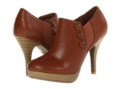 Kenneth Cole Unlisted File Away Womens Brown High Heel Shoe Booties Boots Size #KennethColeUnlisted #FashionAnkle