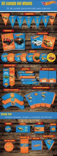 #kit #HotWheels #autos #niño  #invitaciones #imprimible #kitimprimible #cars #cumplenene #banderines #toppers #candybar #cumplehotwheels #cumpletematico #fiestacumple