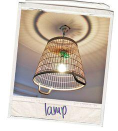 wire olive basket light