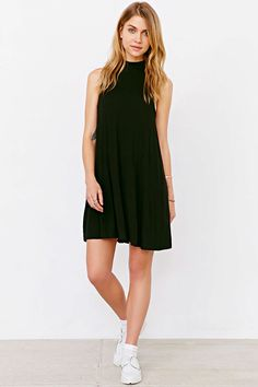 Silence + Noise Swing Mock-Neck Mini Dress - Urban Outfitters