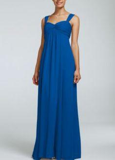 David's Bridal Horizon Blue - Chiffon Color Reference