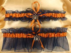 Wedding Garter Set with Auburn University Colors