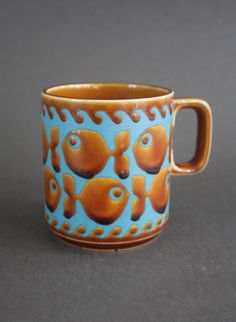 John Clappison Hornsea Pottery Fish Mug