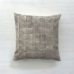 Stripe Print Cushion Cover. All Hereware fabrics are designed and printed by hand in our studio in Toronto, Canada.