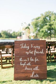 Bon Glamorous Outdoor Barn Wedding. Wedding Ceremony SignsRustic ...