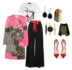 """""""Untitled #498"""" by steflsamour on Polyvore featuring Dsquared2, Jérôme Dreyfuss, Kikijewels, STELLA McCARTNEY, Gianvito Rossi, Style & Co., Effy Jewelry, Mary Katrantzou, Donna Karan and women's clothing"""