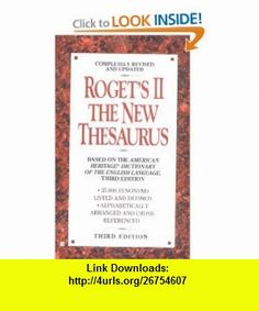 Rogets II The New Thesaurus (9780425156681) Various , ISBN-10: 0425156680  , ISBN-13: 978-0425156681 ,  , tutorials , pdf , ebook , torrent , downloads , rapidshare , filesonic , hotfile , megaupload , fileserve
