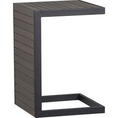 Alfresco Grey Side Table-Stool in Alfresco Grey | Crate and Barrel