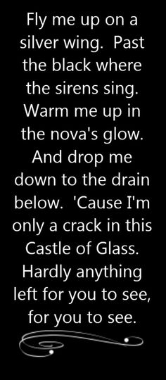 Linkin Park - Castle of Glass - song lyrics, song quotes, songs, music lyrics, music quotes,