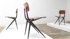 Chaises industrielles S201 | Atelier Marko | Dutch industrial chairs by Friso Kramer & Wim Rietveld | 1000 Designs