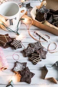 Dark Chocolate Cocoa Nib Shortbread Cookies | Vanilla And Bean