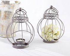 Vintage Themed Bird Cage Lantern for your love birds theme wedding #birdcage #lantern