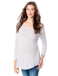 Vince A Pea in the Pod Long Sleeve Scoop Neck Maternity T Shirt