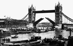 Crowds gather to watch the official opening of Tower Bridge  1894.