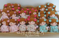 Lembrancinhas Maternidade Chaveiro bonecas com 11 cm cada. Artes em Feltros By Juliana Cwikla