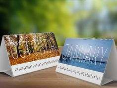 Desk Calendar Mock-Up V2 by infostyle.itembridge , via Behance