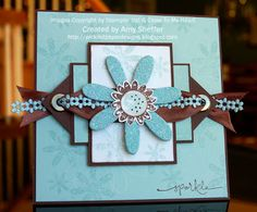 blue and brown card by Pickled Paper Designs