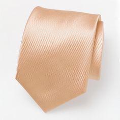 Cravate orange pêche