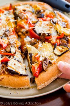 Slice-by-slice, this homemade whole wheat pizza will disappear before your eyes! Top it with roasted veggies and your favorite cheese.