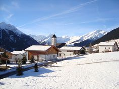 """Scenic village """"Lumbrein"""" in the Swiss Alps. Come and spend your vacation in one of our beautiful holiday homes! Swiss Alps, Mount Everest, Homes, Vacation, Mountains, Holiday, Nature, Travel, Outdoor"""