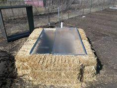 Re-purposed an old shower door to make a cold frame for  new vegetable seedlings. Vegetable Gardening By Steven Coyne on Facebook