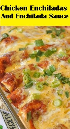 Create your own delicious chicken enchiladas with homeamde enchilada sauce! Easy and quick enchilada recipe your family will love.