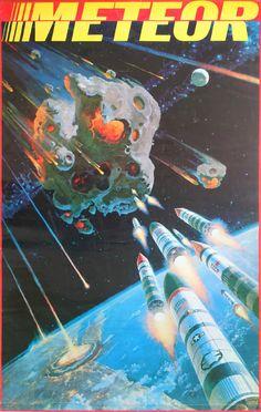 1979 Meteor - Sci-fi Movie Poster - Original Vintage Poster