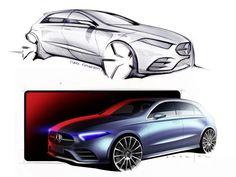 Mercedes-Benz New A-Class: Design Sketches