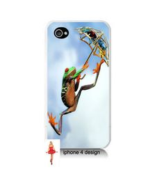 Unique Flying Frog Design Iphone 4/4s case Iphone by IPhone4Design, #etsy