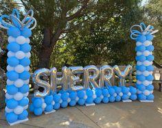 Graduation Party Centerpieces, Graduation Balloons, Balloon Centerpieces, Balloon Decorations Party, Birthday Balloons, Balloon Ideas, How To Make Balloon, Love Balloon, Name Balloons