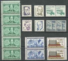 17 US #1010 -3¢ Lafayette, #1056 -2 1/2¢ Bunker Hill, # 974 3¢ Juliette Low MNH