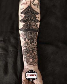 Photo by (gabys9012) on Instagram   #pagodatattoo#juankytattoomanresa #ink #inktober #inked #inktattoo #inkmagazine #tatuajes #tattoo #japantattoo #manresaink #thebestattooartist