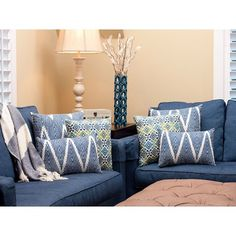 Blue Pillows Decorative Throw Pillows And Tans On Pinterest
