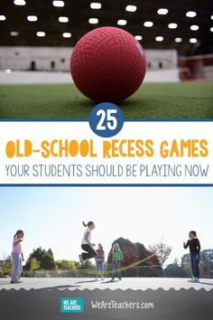 25 Old-School Recess Games Your Students Should Be Playing Now. The next time your class needs to get outside to let off some steam or build teamwork and physical fitness, try one of these classic recess games. - Education and lifestyle Group Games For Kids, Class Games, Outdoor Games For Kids, Pe Class, Preschool Games For Kids, Work Out Games, Indoor Recess Games, Fitness Games For Kids, Outside Games For Kids