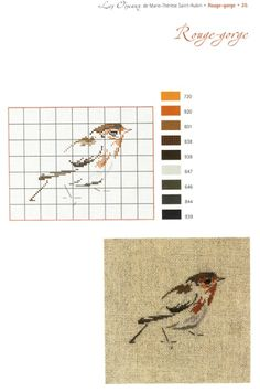 ru / Фото - Les Oiseaux - Orlanda - picture for you Cross Stitch Needles, Cross Stitch Bird, Cross Stitch Animals, Cross Stitch Charts, Cross Stitching, Cross Stitch Embroidery, Embroidery Patterns, Bird Embroidery, Blackwork
