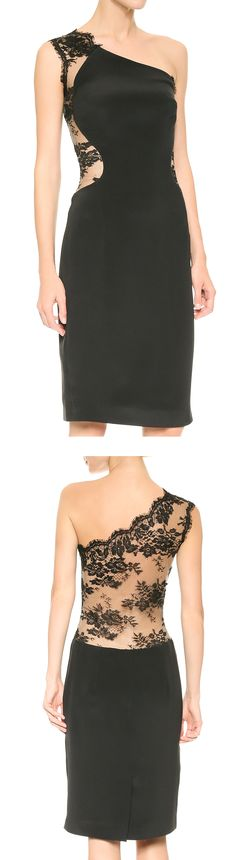 Chantilly lace one shoulder dress