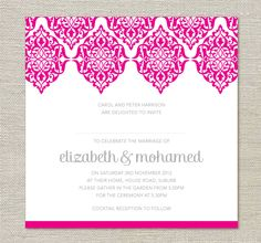 2013 Invitation Trends Moroccan Ethnic Wedding Invitations