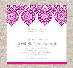 Moroccan Lace Wedding Invitations. $40.00, via Etsy.