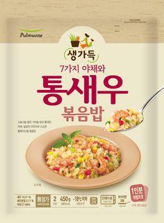 냉동볶음밥 - Google 검색 Rice Packaging, Visual Communication Design, Exotic Food, Ad Design, Graphic Design, Packaging Design, Macaroni, Mockup, Korean