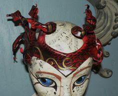 medusa mask - red
