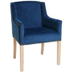 Deep Blue Studded Occasional Chair @opusdesignco opusdesign.com.au/