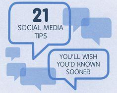 21 Social Media Tips You'll Wish You'd Known Sooner  // SEO Services wie Keyword Research, OnPage SEO und Backlink Buildung bekommt Ihr bei http://www.ranking-verbessern.ch